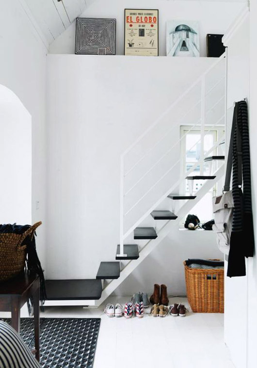 black and white staircase. / sfgirlbybay