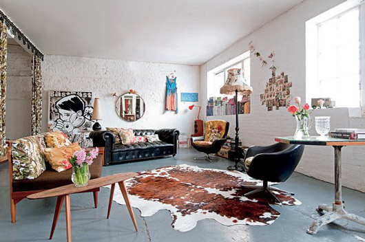 lovely london loft with vintage furnishings. / sfgirlbybay