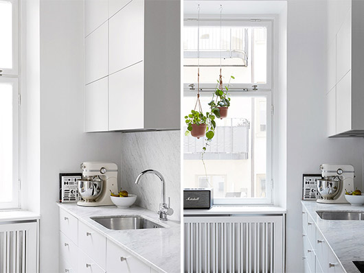 white and marble kitchen via fantastic frank. / sfgirlbybay