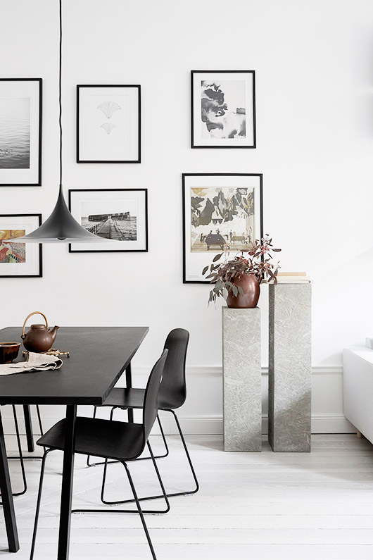 dining area in scandinavian style home. / sfgirlbybay