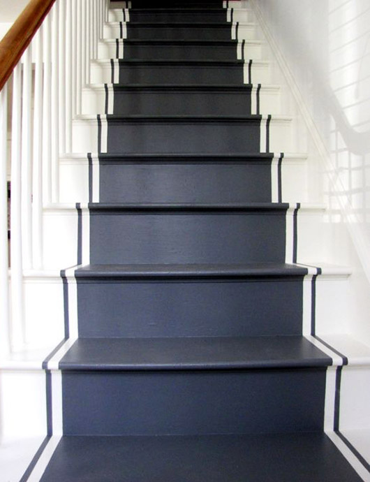 painted black and white stairs. / sfgirlbybay