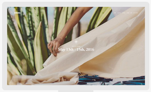 sonora squarespace template. / sfgirlbybay
