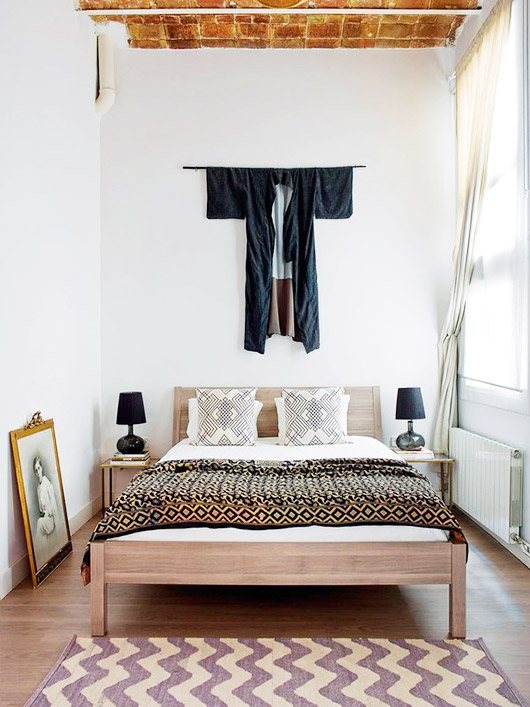 bedroom in the home of interior designers A & B curated. / sfgirlbybay