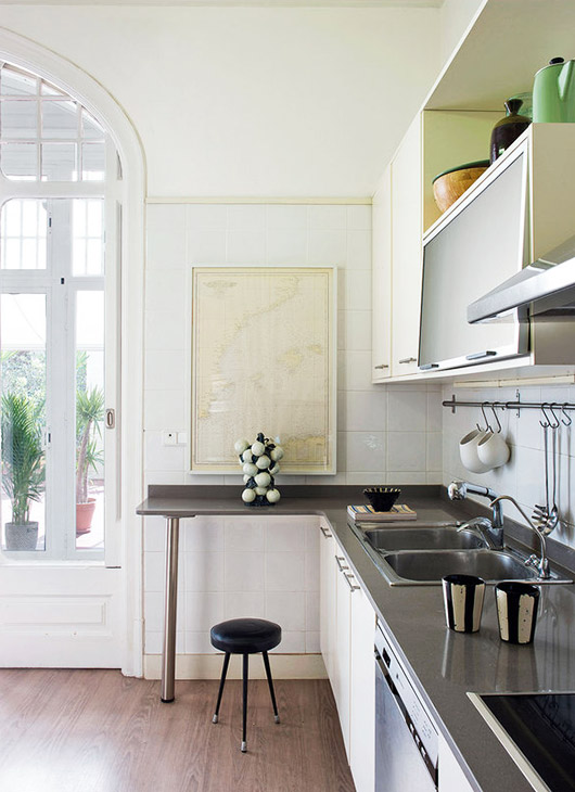 kitchen decor in the home of interior designers A & B curated. / sfgirlbybay