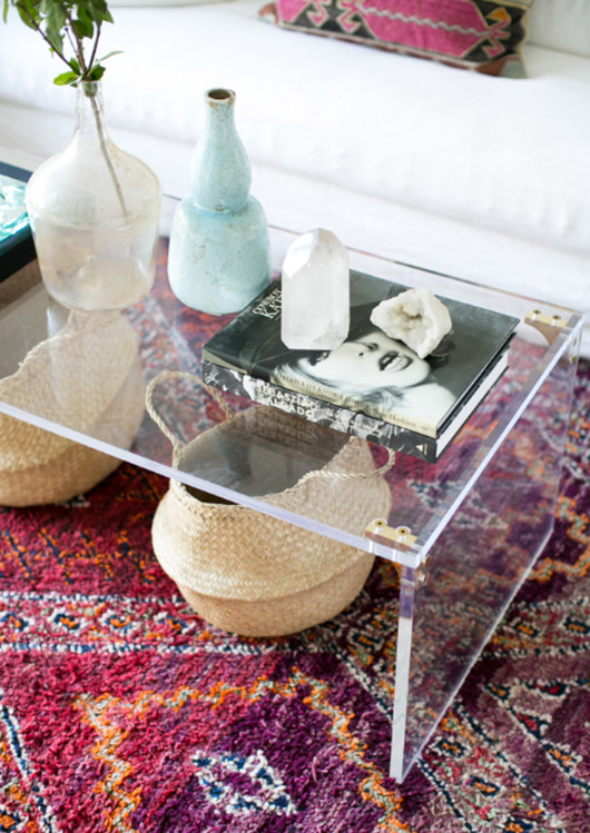lucite coffee table styling inspiration. / sfgirlbybay