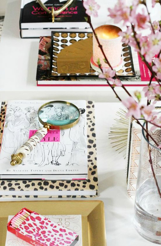 coffee table style with books and accessories. / sfgirlbybay