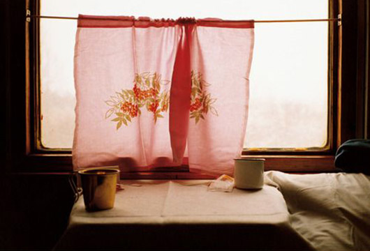 yoko takahash photograph of vintage fabric curtain. / sfgirlbybay