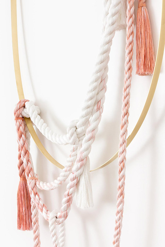 pink and white and gold cindy zell gulfoss wall hanging. / sfgirlbybay