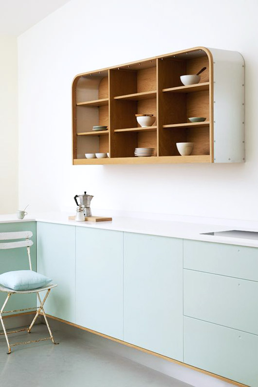 mint green kitchen cabinetry. / sfgirlbybay
