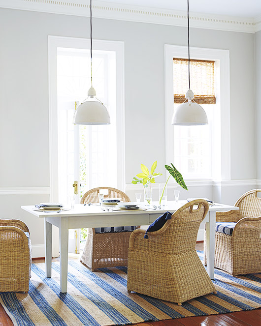 serena & lily wicker dining chairs. / sfgirlbybay
