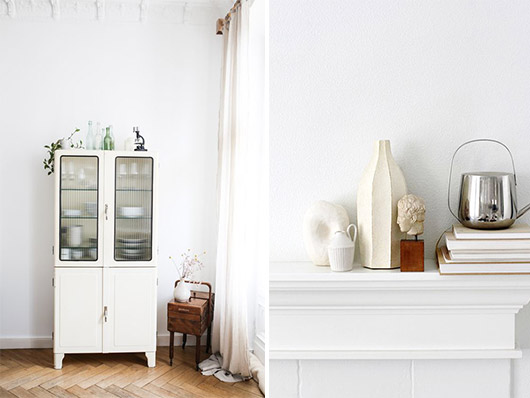 white washed rooms and decor. / sfgirlbybay