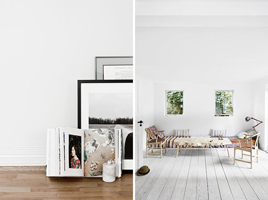 white rooms with minimal decor. / sfgirlbybay