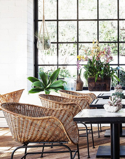 wicker chairs at gracias madre. / sfgirlbybay