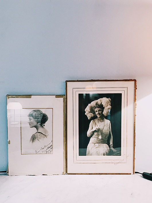 vintage framed photographs at pension edelweiss. / sfgirlbybay