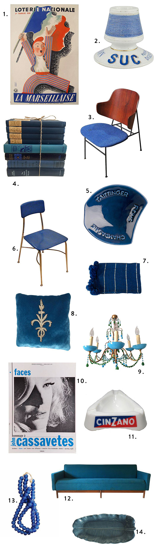 blue vintage home furnishings and decor from chairish. / sfgirlbybay
