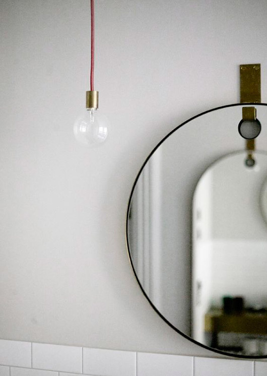 black framed circle mirror. / sfgirlbybay