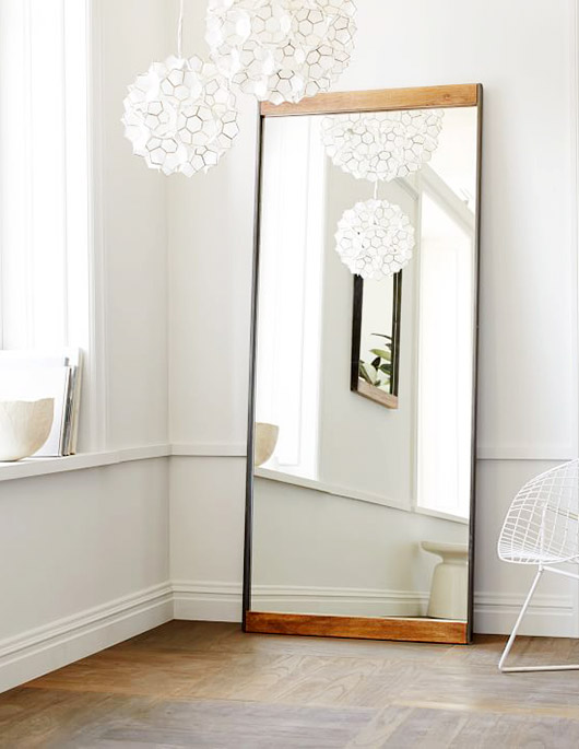 wood framed mirror. / sfgirlbybay