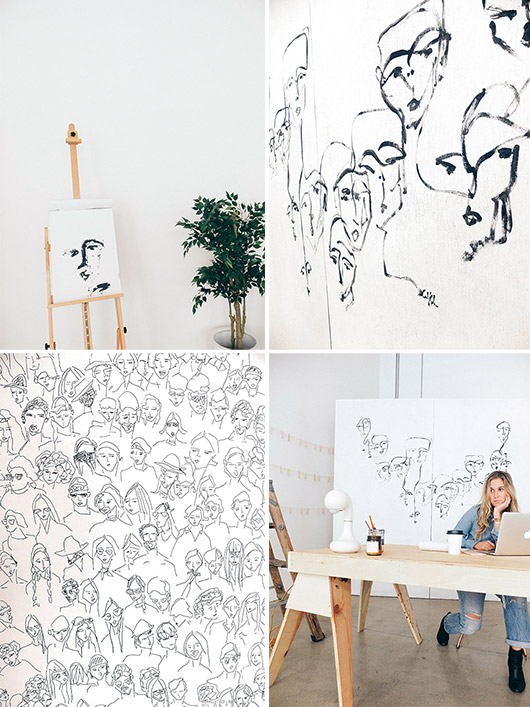 artist carly kuhn in her DTLA studio space. / sfgirlbybay