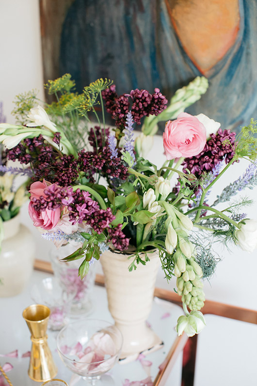 pink and purple floral arrangement. / sfgirlbybay