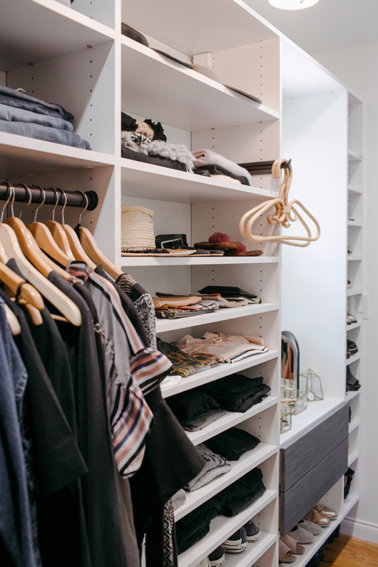 grown up closet makeover with california closets. / sfgirlbybay