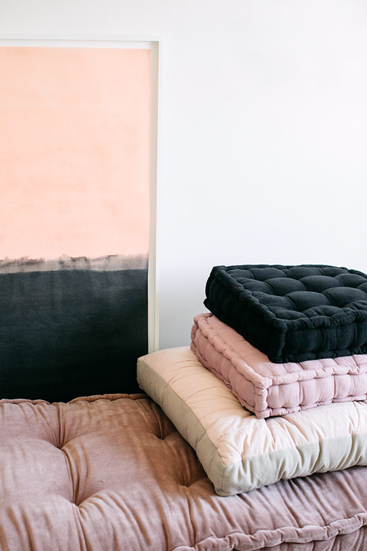 urban outfitters stacked floor cushions. / sfgirlbybay