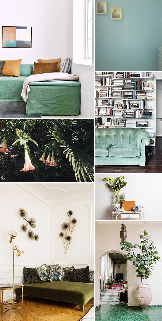 green furniture and houseplants. / sfgirlbybay