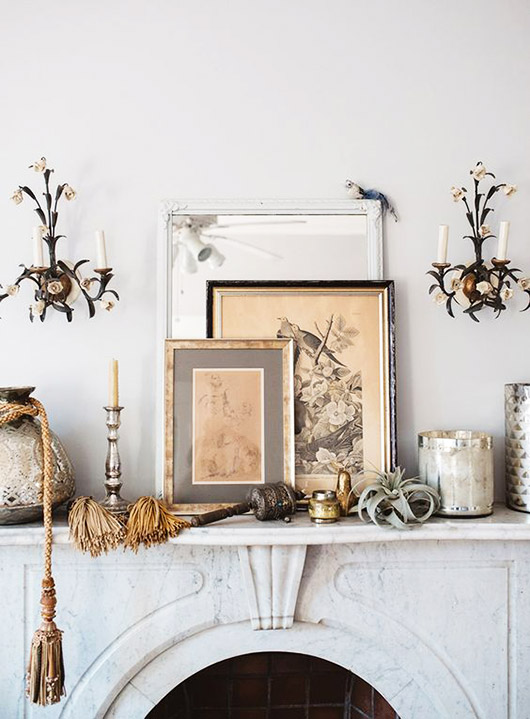 curated mantel decor. / sfgirlbybay