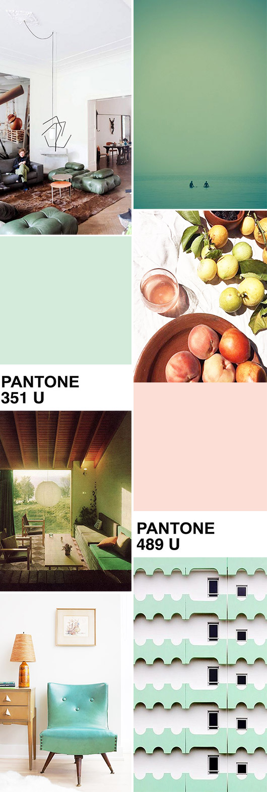 pink and green color palette inspiration. / sfgirlbybay