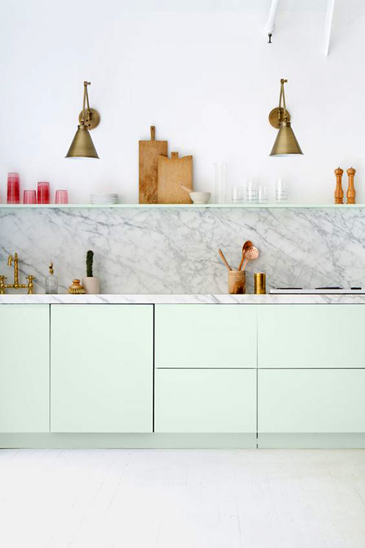 mint green and marble kitchen decor. / sfgirlbybay