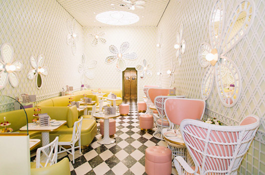 candy colored interior of laudurée los angeles. / sfgirlbybay