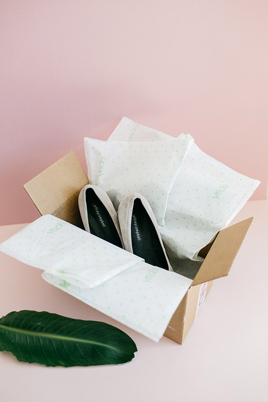 jeffery campbell suede shoes in ebay shipping box. / sfgirlbybay