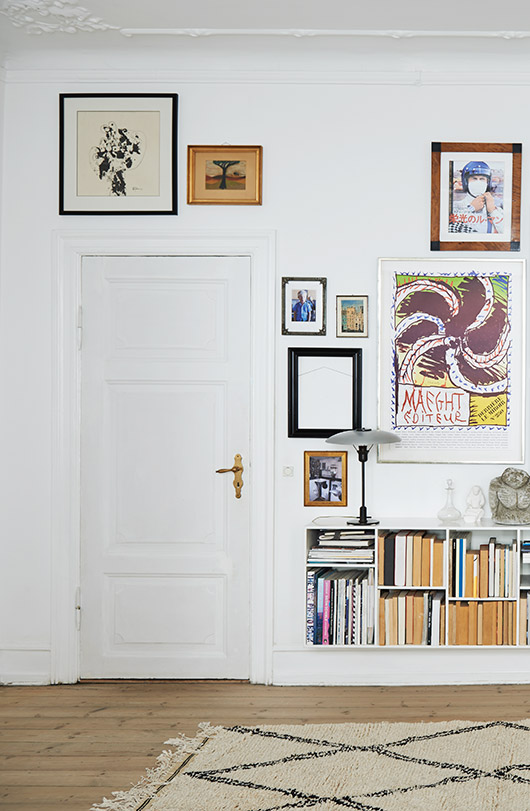 colorful art gallery wall via the scandinavian home by niki brantmark / sfgirlbybay