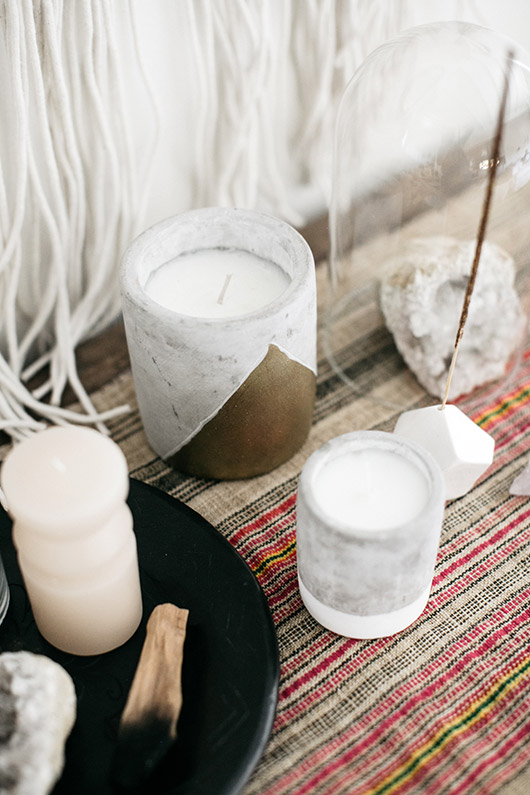 candles and crystal incense holder from urban outfitters. / sfgirlbybay