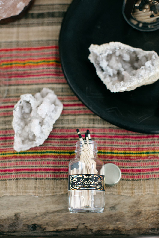 crystals and matches in tiny jar from urban outfitters. / sfgirlbybay