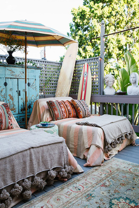 beachy outdoor decor. / sfgirlbybay