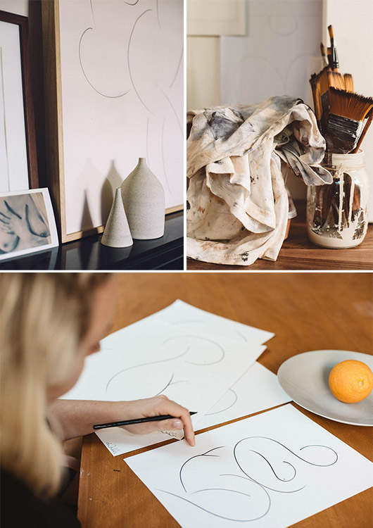 at home with melbourne artist caroline walls. / sfgirlbybay