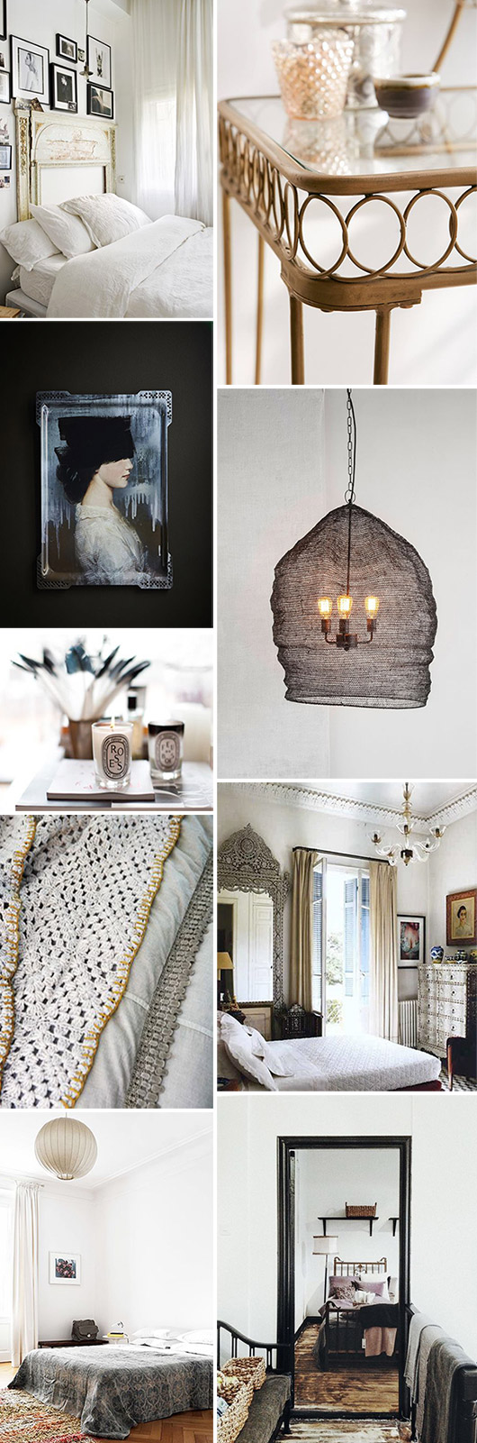 bohemian bedroom decor inspiration. / sfgirlbybay