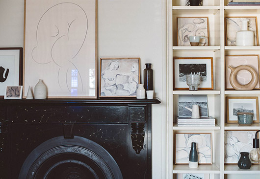 curated art collection of artist caroline walls. / sfgirlbybay