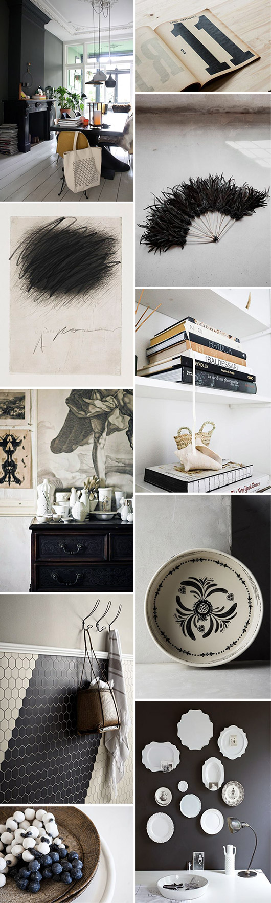 black and white decor inspiration. / sfgirlbybay