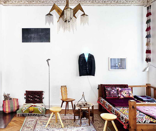 apartment in germany with moroccan decor via milk decoration. / sfgirlbybay