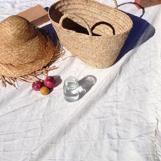 woven hat and basket tote via a piece apart. / sfgirlbybay
