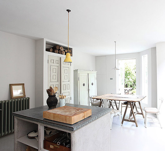 kitchen with dining room in queens park, england via light locations. / sfgirlbybay