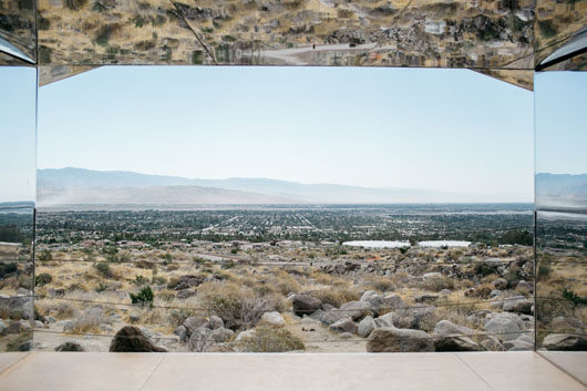 view from inside doug aitken mirage in palm springs. / sfgirlbybay