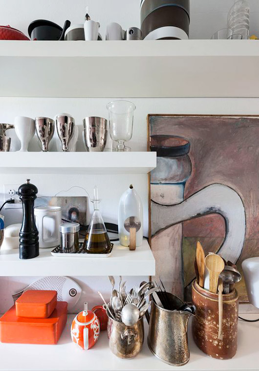 kitchen with vintage dishware and accessories. / sfgirlbybay