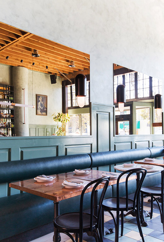 the dining room at cafe birdie. / sfgirlbybay