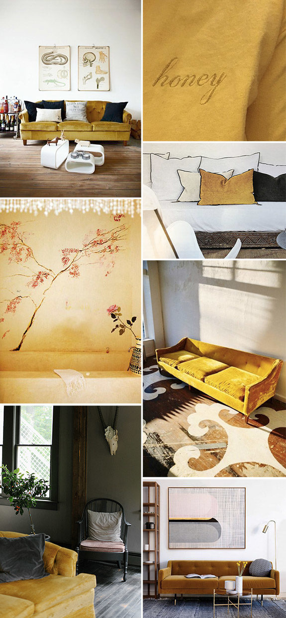 honey yellow decor inspiration. / sfgirlbybay