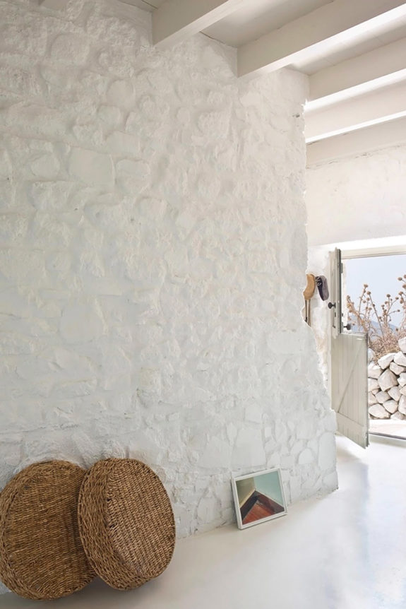 white stone walls at Sterna Nisyros Residence in greece. / sfgirlbybay