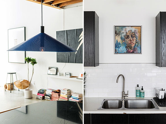 kitchen and dining area details in interior designer sally breer's frogtown loft. / sfgirlbybay