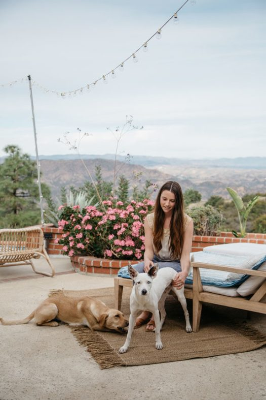 erin bruno outside of her malibu hills home. / sfgirlbybay