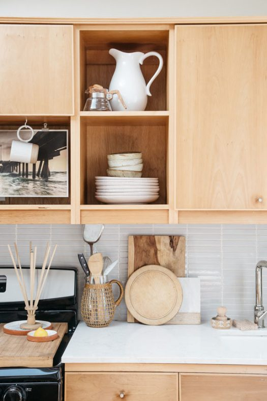 efficient tiny home kitchen design with natural wood details. / sfgirlbybay